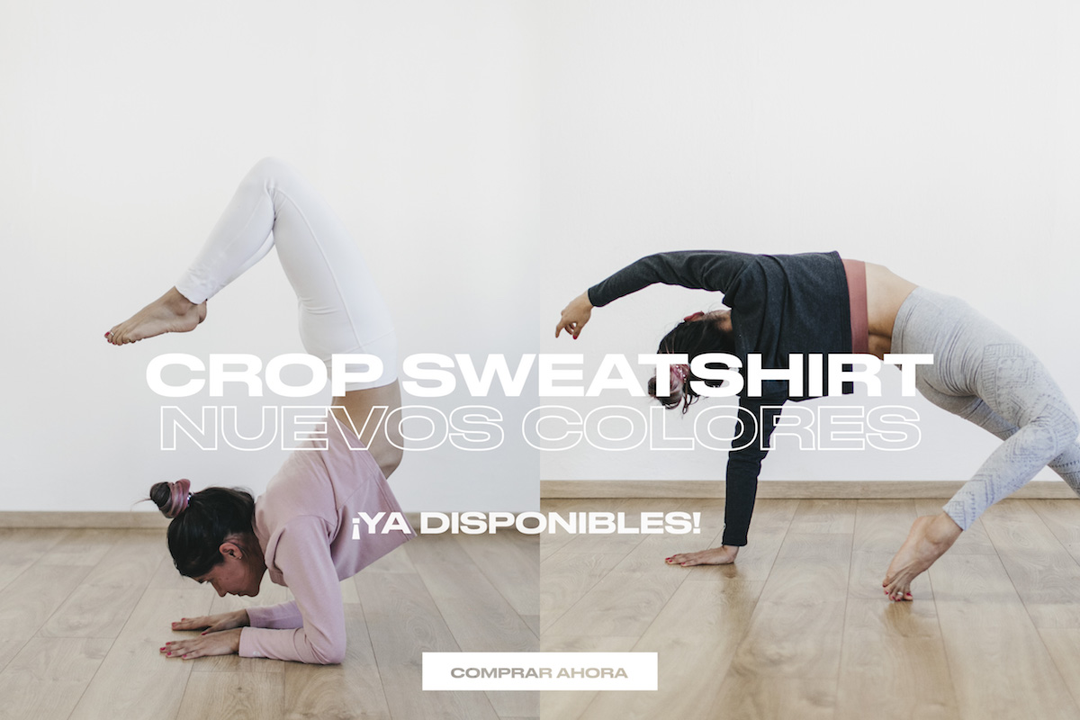 crop sweatshirt yoga